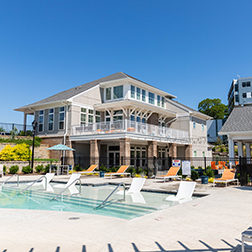 Exterior Clubhouse Pool View